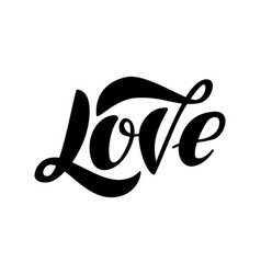 lettering word love isolated on the white vector image