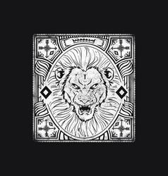 lion cast vector image