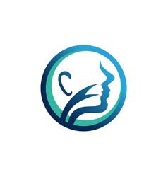 Logo for otolaryngology clinics ent doctor vector