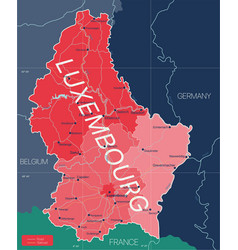 luxembourg country detailed editable map vector image