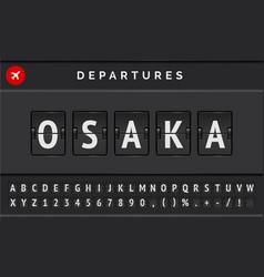 Mechanical airport flip board font vector