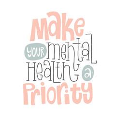 Mental health quotes vector