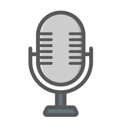 Microphone colorful line icon studio sound vector