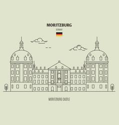 Moritzburg castle in moritzburg vector