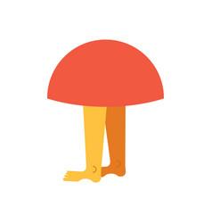 Mushroom with legs forest monster vector