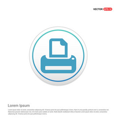 office printer icon - white circle button vector image
