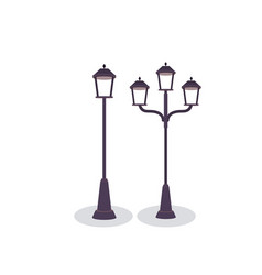 park metal lamps design vector image