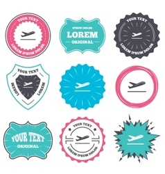 Plane takeoff icon Airplane transport symbol vector image