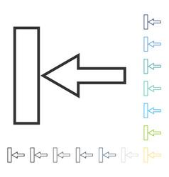 Push left icon vector
