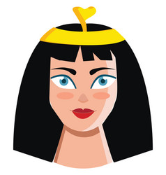 queen cleopatra ruler kingdom egypt and vector image