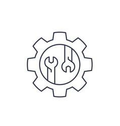 repair service linear icon vector image