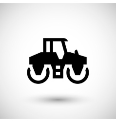Road roller icon vector image