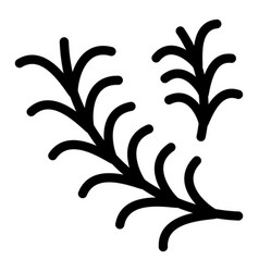 Rosemary icon outline style vector