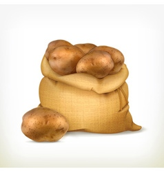 Sack of potatoes icon vector