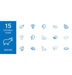 safari icons vector image