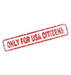 Scratched only for usa citizens rounded rectangle vector