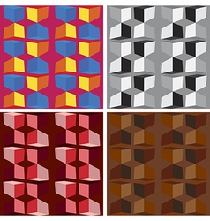 Seamless abstract art pattern set vector