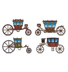 Set dormeuse chariot or royal carriage vector