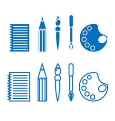 set of icons on the theme of drawing for office vector image