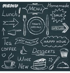 set restaurant menu design elements vector image