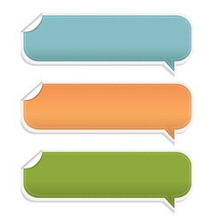 Set Speech Bubble Frames vector image
