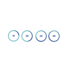 set timers sign icon full rotation timer vector image