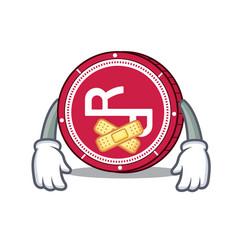 Silent rchain coin mascot cartoon vector