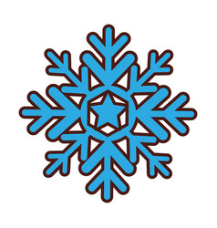 snowflake silhouette isolated icon vector image