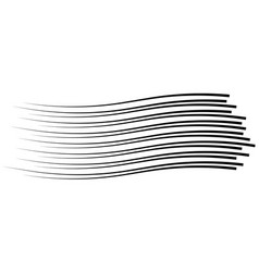 Speed lines isolated set sun vector