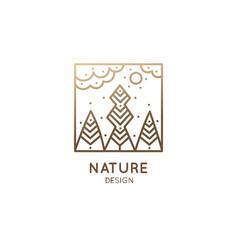 Square logo landscape vector