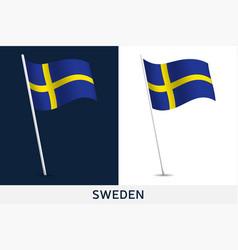 sweden flag waving national flag vector image