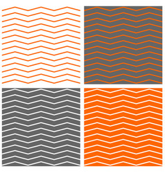 tile pattern set with zig zag background vector image