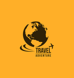 Travel in the world icon collection vector