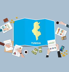 Tunisia africa economy country growth nation team vector