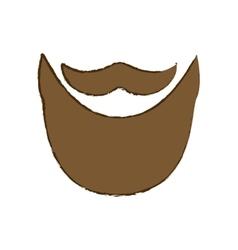 Vintage mustache icon image vector