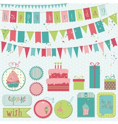 Retro birthday celebration vector
