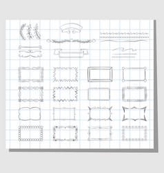 school hand drawn frames vector image vector image