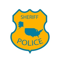 Sheriff police badge vector image vector image