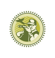 Vintage Hunter Icon vector image vector image