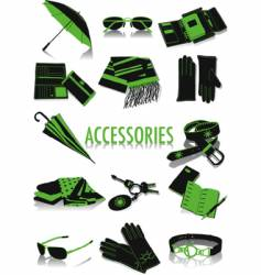 accessories silhouettes vector image vector image