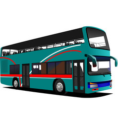 double decker sightseeing bus vector image