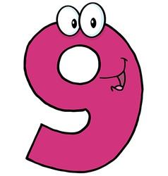 Happy Number Nine vector image