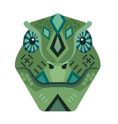 lizard head logo iguana decorative emblem vector image vector image