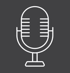 microphone line icon studio and sound vector image