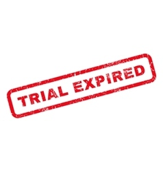 Trial Expired Rubber Stamp vector image