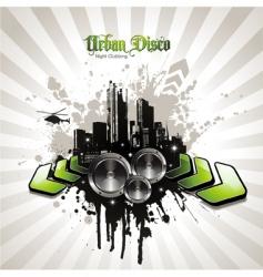 urban disco vector image vector image
