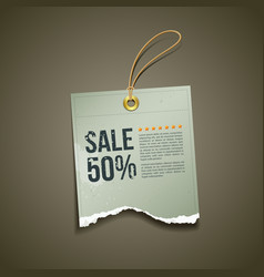 Vintage Label Ripped paper sale vector image vector image