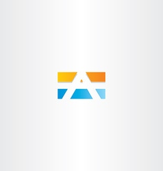 blue orange letter a rectangle logo vector image