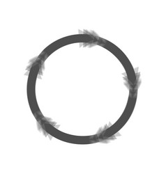 circular arrows sign gray icon shaked at vector image vector image
