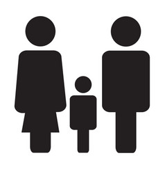 family icon on white background family sign flat vector image